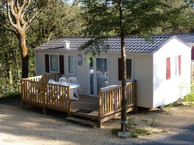 mobile-home riviera avec terrasse au camping la butte en dordogne perigord proche sarlat