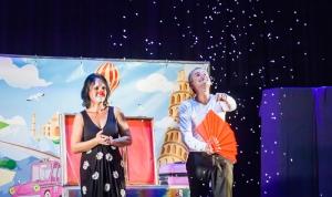 animations enfants spectacle de clown et magie au camping la butte a la roque gageac en dordogne perigord