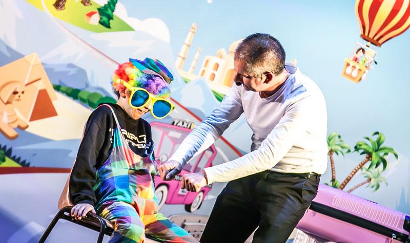animation enfants spectacle de clown au camping la butte à la roque gageac proche de sarlat