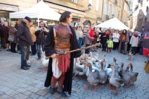 La fete de l'oie à Sarlat en Dordogne Perigord