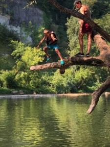 animation sortie canoe en dordogne perigord noir au camping la butte